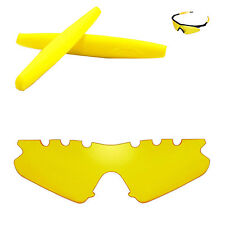Walleva Yellow Vented Replacement + Yellow Earsocks For Oakley M Frame Sweep