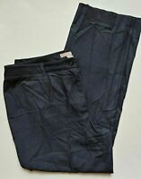 Chicos Dress Pants Size 3 Womens 16 Dark Blue Stretch Straight Leg High Rise