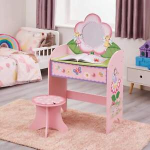 Kids Dressing Table with Stool Fairy and Butterfly Themed
