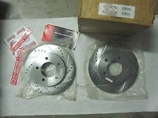 Pair of New Power Stop Drilled and Slotted Rotors Left 8 Right  Side