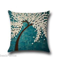 Cotton Linen Bolster Throw Pillow Case Sofa Cushion Cover Gift Home Decoration