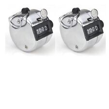 X2 Tally Counter Hand Held Clicker 4 Digit Chrome - Counting and Tasbih