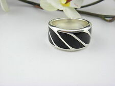 David Yurman Graphic Cable Band Ring with Black Onyx Size 12