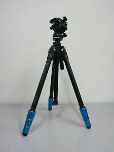 Benro TSL08AS2CSH SLIM Video Tripod Kit (Aluminum) - Max Load 5.5 lb / 2.5 kg