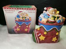 Wonderland Traditions Stocking Cookie Jar