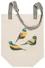 Danica Studio Canvas Market Bag Tote Chirp Collection NWT Yellow Teal