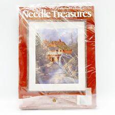 Needle Treasures ColorArt Cross Stitch Kit Sullivan's Mill Watermill 14 x 18 New