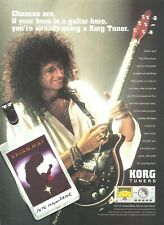 Queen Brian May Korg Tuners 2002 Promo Poster Ad