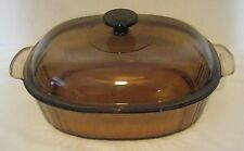 Vision Corning Wear Pyrex 4L Amber Dutch Oven Casserole Dish Pan Roaster