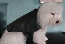 Genuine Green Leather Dog Coat Medium Size by Bark Avenue Originals