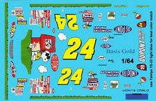 #24 Jeff Gordon Peanuts 2004 Chevy 1/64th Ho Scale Slot Car Waterslide Decals