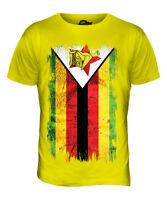 ZIMBABWE GRUNGE FLAG MENS T-SHIRT TEE TOP ZIMBABWEAN SHIRT FOOTBALL JERSEY GIFT