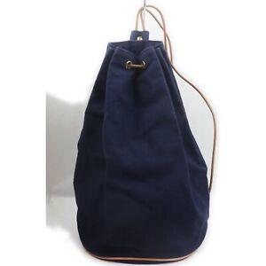 Hermes Back Pack  Navy Blue Canvas 1907089