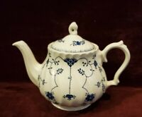 Churchill England Teapot Finlandia Pattern Blue on White