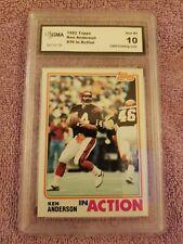 Ken Anderson 1982 Topps In Action Cincinnati Bengals GMA GEM MT 10
