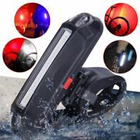 Rechargeable USB Bike LED Tail Light Bicycle Safety Warning Rear Lamps Portable