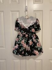New listing Vtg - Fall Floral Dress w/Sheer Collar - size 4
