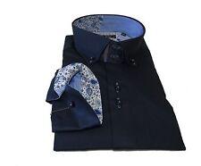 Floral Regular Collar Slim Casual Shirts & Tops for Men