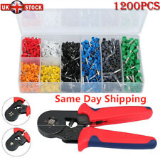 1200Pc Car Wire Assorted Insulated Electrical Terminals Connectors Crimp Box Kit