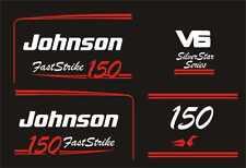 Adesivi motore marino fuoribordo Johnson 150 hp V6 fast strike nautica barca