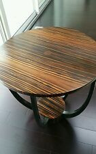 Mid century modern macassar ebony cocktail table Eames era art deco makassar 30s