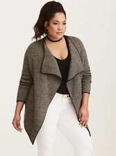 Torrid Chevron Pattern Draped Cardigan Jacket NWT Sz 5 (28)