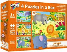 Galt 4 Puzzles in a Box - Jungle Puzzle 18mths +