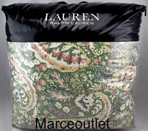 Ralph Lauren Allie Paisley FULL / QUEEN Comforter & Shams Set Green