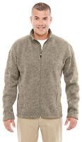 Devon & Jones Men's Long Sleeve Polyester Full Zip Sweater Fleece Jacket. DG793