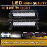 2X 11 inch 60W Spot Flood Combo LED Light Bar Driving SUV ATV Pickup Boat bumper
