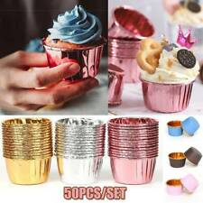 50pcs Striped Cupcake Paper Cup Muffin Cases Tray Cake Mold Baking Cup~