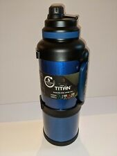 MANNA TITAN SAPPHIRE BLUE WIDE MOUTH GALLON STAINLESS STEEL WATER JUG