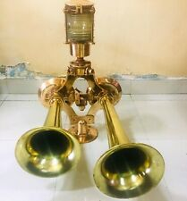 Vintage Marine Ship Full Brass Horn Made In USA 100% Original