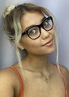 New BURBERRY B 6921 6734 50mm Black Red Round Women's Eyeglasses Frame