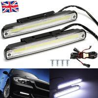 10W Car Van COB LED DRL Daytime Running Light Fog Drive Reversing Lamp 12V 2PCS