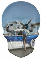 Gothic Skull Double Exposure Girl Cars And Planes View Wall Sticker Mural 767