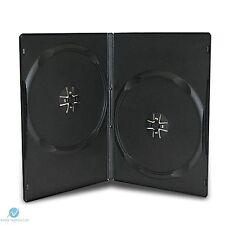 10 nero doppio DVD con casi SLIM 9mm Spina Dorsale NUOVO VUOTO Copertina regolare