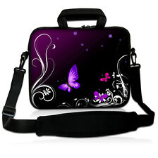Purple Butterfly Laptop Shoulder Sleeve Bag Soft Case For Ipad 1,2,3 4  ipad air