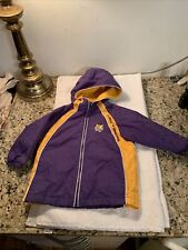 LSU TIGERS NCAA SEC Toddler HOODIE SIZE 18 M ZipUp Parka Embroidered BATON ROUGE
