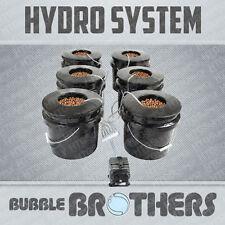 Bubble Brothers 6-Pot Deep Water Culture Dwc Bucket System W/ Medium