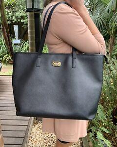 Michael Kors Black Shopping Tote Handbag