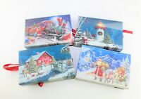 Patricia Adams Lot of 4 Christmas Light Up Wall Art Table Picture Décor