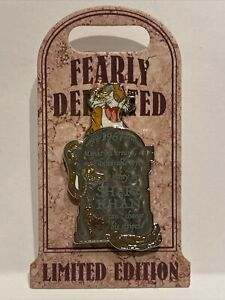 Disney Villains Fearly Departed Tombstone Shere Khan Pin LE 5000