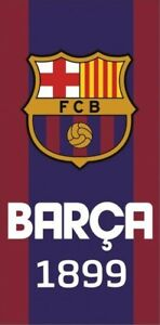 Barcelona FC Crest Logo Towel 100% COTTON 70 x 140 cm Bath, beach, pool. 1899