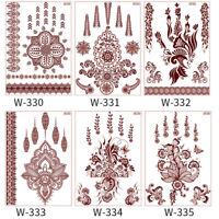 AU_ FT- Henna Waterproof Geometric Lace Temporary Tattoo Sticker Body Art Mandal