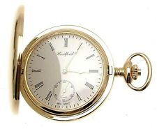 Full Hunter Pocket Watches Subsidiary Seconds Dial Gold Finish 1099969