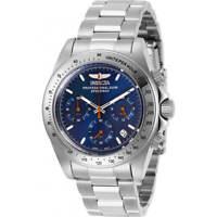 Invicta Men's Watch Speedway Chronograph Blue Dial Silver Tone Bracelet 27770