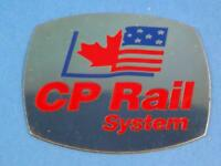 CP RAIL SYSTEM TRAINS RAILROAD LOGO CANADA USA METAL EMBLEM BADGE CANADA USA