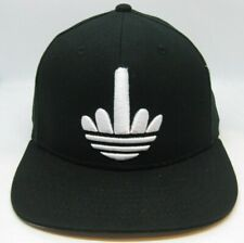 Middle Finger Adidas Logo My Fresh Snapback Black Hat Cap - SEE PHOTOS