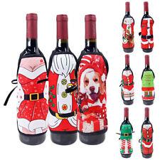 Random 1pc Wine Bottle Apron Chef Christmas Party Wine Dinner Table Decoration
